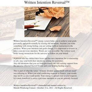Written Intention Reversal™